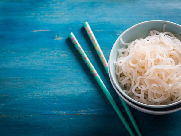 Japanese food – Shirataki noodles (Konjac)