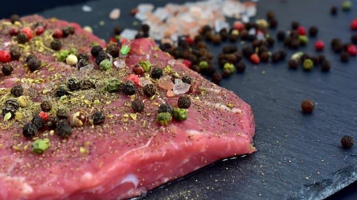 Steak mit Pfeffer