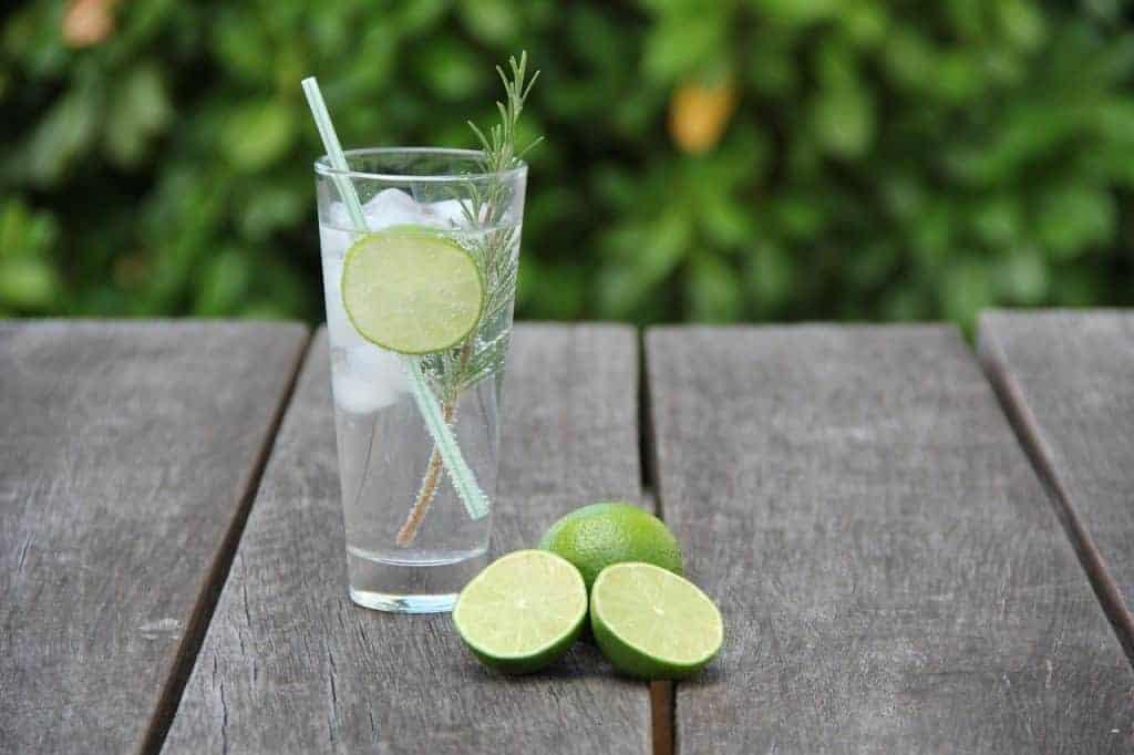 Gin Tonic mit Limette und Rosmarin