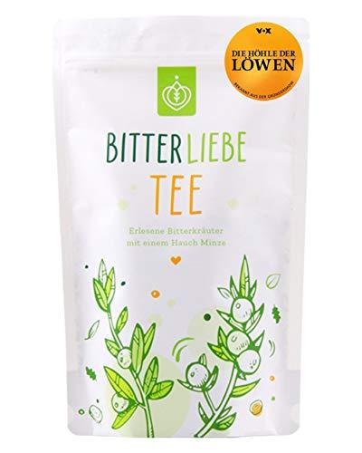BitterLiebe® Kräutertee lose 100g mit der Kraft der Bitterstoffe I Bitterkräuter, Löwenzahn, Tausendgüldenkraut, Fenchel, Pfefferminz I ca. 60 Tassen