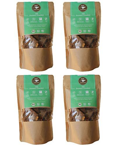 eat Performance® Protein Cracker (4x 100g) - Bio, Paleo, Glutenfrei, Laktosefrei, Ohne Milch, Aus 100% Natürlichen Zutaten