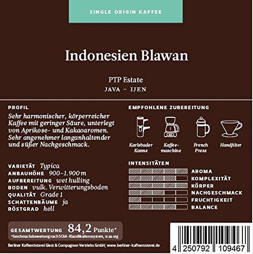 BKR | Kaffee | Indonesien | Java Blawan | Arabica | Single Origin 500g Bohne