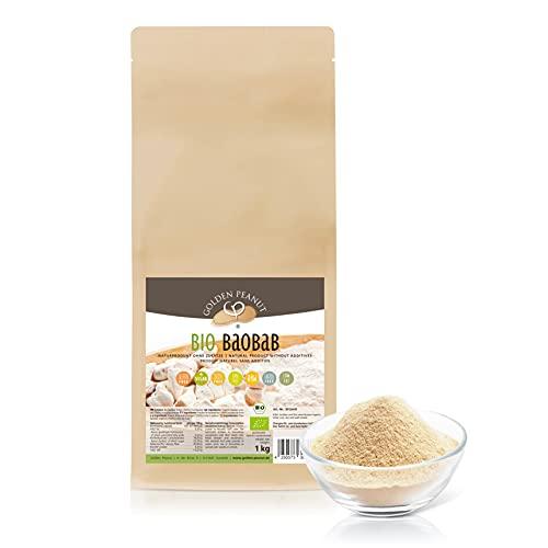 Bio Baobab 1 Kg Beutel Fruchtpulver 100% rein, ohne Zusätze, reich an Vitaminen, Rohkostqualität