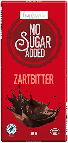 frankonia CHOCOLAT NO SUGAR ADDED Zartbitter Schokolade,80 g