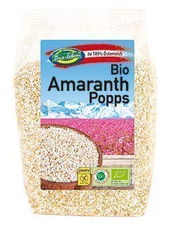 Bio-leben österreichischer Amaranth gepufft gluten-free 1,2kg Pops gentechnikfreie Popps, aus Vollkorn Amaranth extra gereinigt stechapfelfrei aus Österreich 8x150g