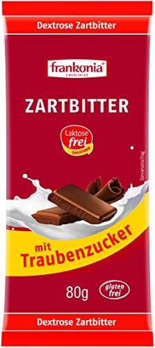 frankonia CHOCOLAT Zartbitter mit Traubenzucker laktosefrei & glutenfrei, 80 g