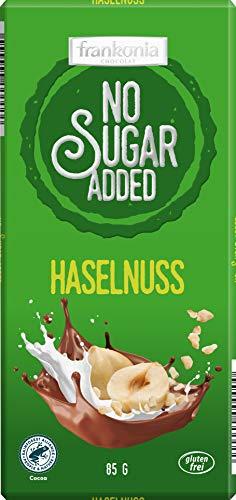 frankonia CHOCOLAT NO SUGAR ADDED Haselnuss Schokolade, glutenfrei, 85 g