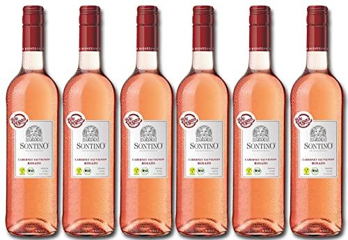 Sontino BioVegan Cabernet Sauvignon Rosato Halbtrocken – Fruchtiger Roséwein aus Italien – 6 x 0,75 l