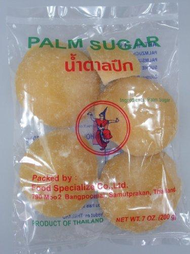 [ 4x 200g ] 4er Pack THAI DANCER Palmzucker ( Scheiben ) / Palm Sugar